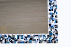 Blue+White+and+Gray+Mosaic+Mirror+//+Large+by+GreenStreetMosaics,+$150.00