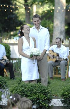 DIY Backyard Wedding Ideas - we are considering doing something as simple and elegant as this.....