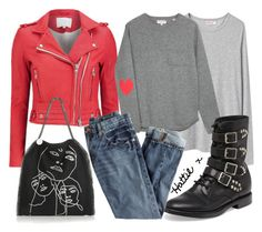 """""""Wardrobe Staple - Style a Red Leather Jacket"""" by hattie4palmerstone ❤ liked on Polyvore featuring Organic by John Patrick, IRO, Chinti and Parker, STELLA McCARTNEY, Yves Saint Laurent and J.Crew"""
