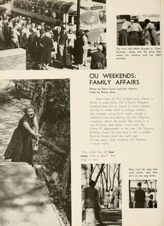 """Athena Yearbook, 1960. """"OU Weekends: Family Affairs."""" Mom's weekend. :: Ohio University Archives"""