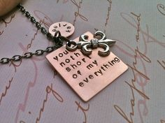 You're Nothing Short of My by DarkChocolateNTulips on Etsy, $34.00