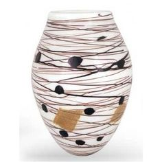Shop Fine Art Lighting Ltd. Nero Blanco Art Glass Vase at Lowe's Canada. Find our selection of vases at the lowest price guaranteed with price match. Fine Art Lighting, Round Vase, Touch Of Gold, Glass Material, Creative Decor, Recycled Glass, Vases Decor, Hand Blown Glass, Glass Art