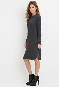 Dolphin Hem Sweatshirt Dress | Forever 21 - 2000165119