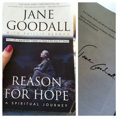 Reason for Hope by Jane Goodall | 21 Books That Could Make The World A Better Place