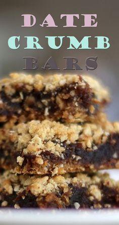 Date Crumb Bars