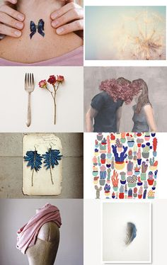 September Finds: Navy and Rose by Bethany Helzer on Etsy--Pinned with TreasuryPin.com