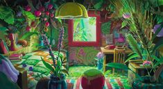 "I have a moment today that I want to have a room like this after watching ""The secret world of Arrietty"" from Ghibli Studio - oh my imagination is flowing too much - I like it *-*!"