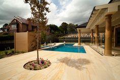 Sandstone pool tiling and paving.  46 Adderley Street East, Lidcombe, NSW 2141, Australia. T4 145 North St, Toowoomba QLD 4350,Australia  sales@aussietecture.com.au 02 8378 0730