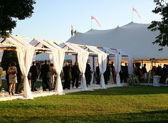 leading from the wedding spot to reception tent! Classy!