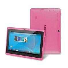 "Chromo Inc 7"" Tablet Google Android 4.4 with Touchscreen Camera 1024x600 Resolution Netflix Skype 3D Game Supported - Pink"
