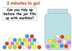 Marbles timer - A fun countdown for tidying up, getting settled... or just counting!