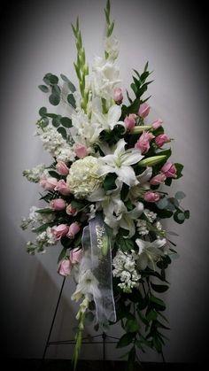 45 Beautiful Funeral Arrangements Ideas Easy To Make It 0819 Casket Flowers, Grave Flowers, Cemetery Flowers, Church Flowers, Funeral Flowers, Silk Flowers, Wedding Flowers, Funeral Floral Arrangements, Church Flower Arrangements