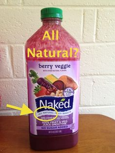 Naked Juice Smoothie - All Natural? Poop.  Who knew Naked juice was owned by Pepsi?!!