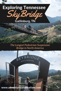 The Longest Pedestrian Suspension Bridge in North America! Gatlinburg's newest attraction is the longest of it's kind in North America. See the most epic views of Gatlinburg, TN and the Great Smoky Mountains. Gatlinburg Vacation, Gatlinburg Tennessee, Tennessee Vacation, Tennessee Cabins, Pigeon Forge Tennessee, East Tennessee, Vacation Places, Vacation Trips, Vacation Spots