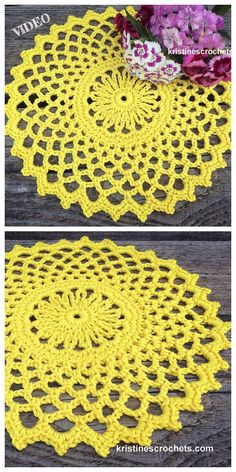 I realized classic crochet at an incredibly young age, my initially initiatives had been doilies made out of tiny cotton … Free Crochet Doily Patterns, Crochet Doily Rug, Crochet Dollies, Thread Crochet, Crochet Patterns For Beginners, Crochet Yarn, Knitting Patterns, Filet Crochet, Lace Doilies