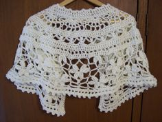"""Capelet I made in 2008 from the pattern """"Chanson en Crochet"""" by Mari Lynn Patrick. Free download from Knitting Daily."""