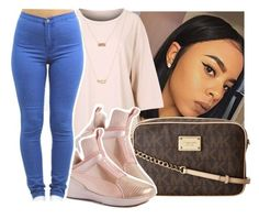 """"""""""" by eazybreezy305 ❤ liked on Polyvore featuring MICHAEL Michael Kors, Puma, ASOS, cute and simpleoutfit"""