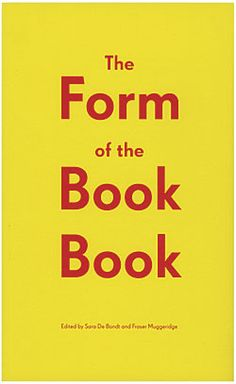 The Form of the Book Book by Occasional Papers