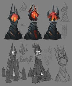 View an image titled 'Hell Towers Art' in our Heroes of the Storm art gallery featuring official character designs, concept art, and promo pictures. Bg Design, Prop Design, Landscape Concept, Fantasy Landscape, Environment Concept, Environment Design, Heroes Of The Storm, Game Concept Art, Environmental Art
