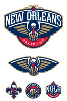Alternate logos for the New Orleans Pelicans.