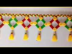 (13) DIY easy woolen door hanging/ऊन की तोरण/.wool ki door hanging/ wall hanging ideas - YouTube