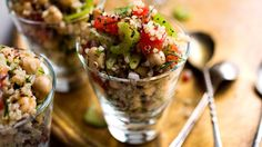 Chickpea, Quinoa and Celery Salad with Middle Eastern Flavors