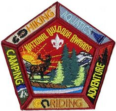 The National Outdoor Award program--recognizes Scouts for participation in challenging outdoor activities. Boy Scouts Merit Badges, Boy Scout Troop, Scout Leader, Cub Scouts, Girl Scouts, Camping 3, Scout Camping, Scout Activities, Outdoor Activities
