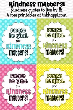 Kindness freebie printables at inkhappi.com