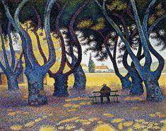 Paul Signac - Plane Trees, Place des Lices, Saint-Tropez