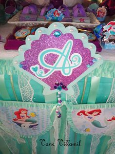 The Little Mermaid Birthday Party Ideas | Photo 12 of 51 | Catch My Party