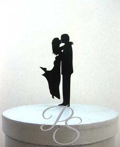 Wedding Cake Topper  haut et court Couple 2 par Plasticsmith