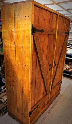 DIY Pallet Closet   Pallet Furniture