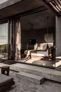 Ambiance naturelle et minérale au Casa Cook Chania - Frenchy Fancy Home Design, Modern House Design, Home Interior Design, Interior And Exterior, Design Homes, Design Ideas, Design Trends, Modern Home Interior, Interior Colors