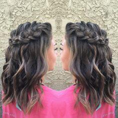 Homecoming. Hairstyle. Half up half down. Short. Medium. Lob. Waves. Braids. Twists.