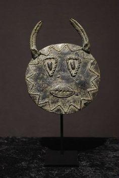 Goli Mask Kplekple Yaswa Bronze Miniature- BAOULE -  Ivory Coast