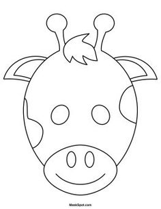 Printable Giraffe Mask to Color