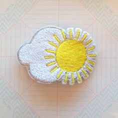 Hey, I found this really awesome Etsy listing at https://www.etsy.com/listing/129870094/weather-hair-clip-rain-sun-rainbow-snow