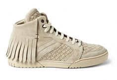Bottega Veneta Fringed Intreciatto Suede Sneakers