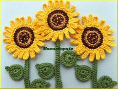 1 Sonnenblume 4 teilig von Maeusespatz auf DaWanda.com