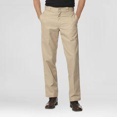 Dickies Men's Regular Straight Fit Twill Work Pants with Extra Pocket- Khaki (Green) 34x34