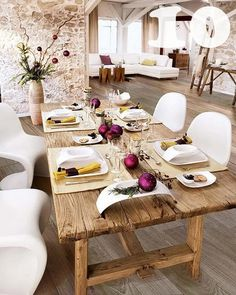 Classic Rustic Dining Table.
