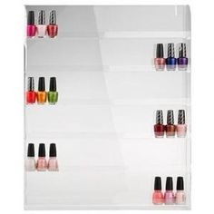 Nail Polish Wall Rack (Holds 60 Bottles), 2015 Amazon Top Rated Cosmetic Organizers #Beauty