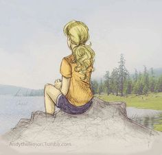Annabeth Chase - art by andythelemon, colored by martha-and-george