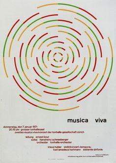 1. Zurich Tonhalle. musica viva. Concert poster, 1957 2. Zurich Tonhalle. musica viva. Concert pos...
