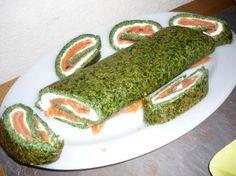 Roulé saumon épinard bio