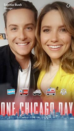 Jesse & Sophia at Chicago Day Chicago Pd Halstead, Nbc Chicago Pd, Jay Halstead, Chicago Shows, Chicago Med, Chicago Style, Chicago Fire, Chicago Bears, Sophia Bush
