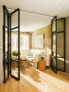 Wickes Folding Interior Door - Within a building or a home, interior doors are accustomed to separate one room from another Partition Door, Room Divider Doors, Room Dividers, Door Design, House Design, Style Deco, Kitchen Doors, Internal Doors, French Doors