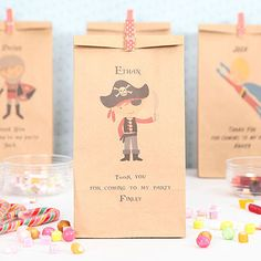 Pirate and Mermaid Party. Pirate party bags.