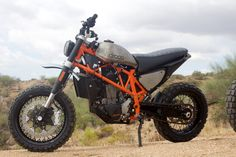 Max Droog of Arizona's Droog Moto Concepts has been turning out some of the meanest scramblers ever to jump a curb or burn down a backroad. Now he's back with a pair of KTM 690 [...]