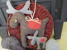 Iciripiciri - Rénszarvasos dísz, Dekoráció, Karácsonyi, adventi apróságok, Karácsonyfadísz, Karácsonyi dekoráció, Rénszarvas mama a kicsinyével. #reindeer #deer #xmas